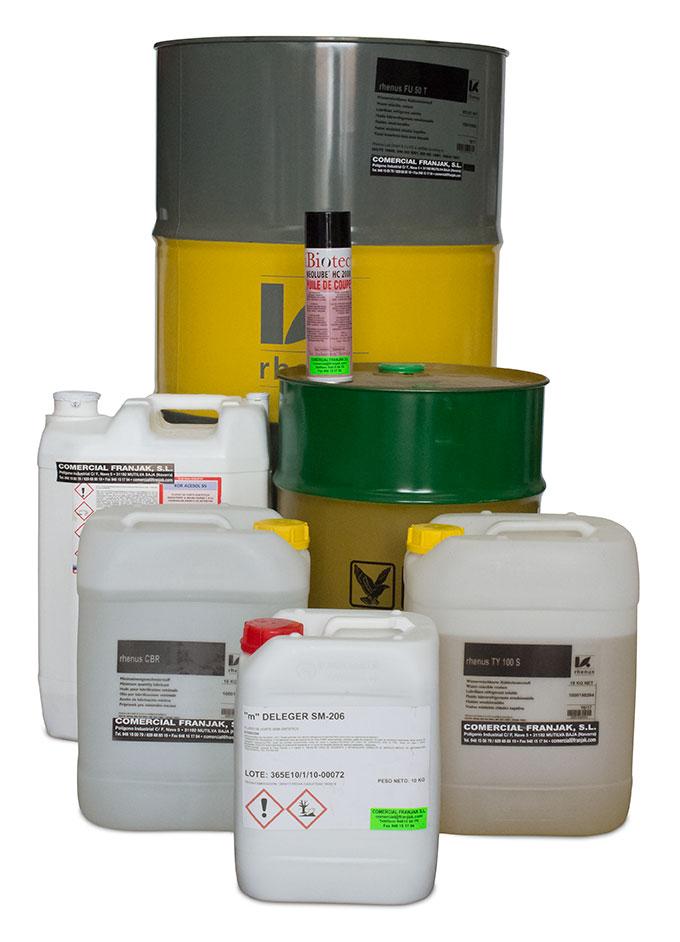 productos lubricantes, grasas, aceites, fluidos de mecanización, desengrasantes y anticorrosivos.