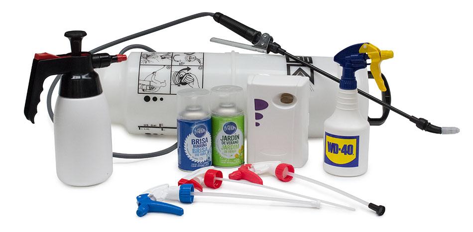 pulverizadores manuales y espolvoreadores para tratamientos en agricultura, jardinería, industria, construcción y limpieza entre otros