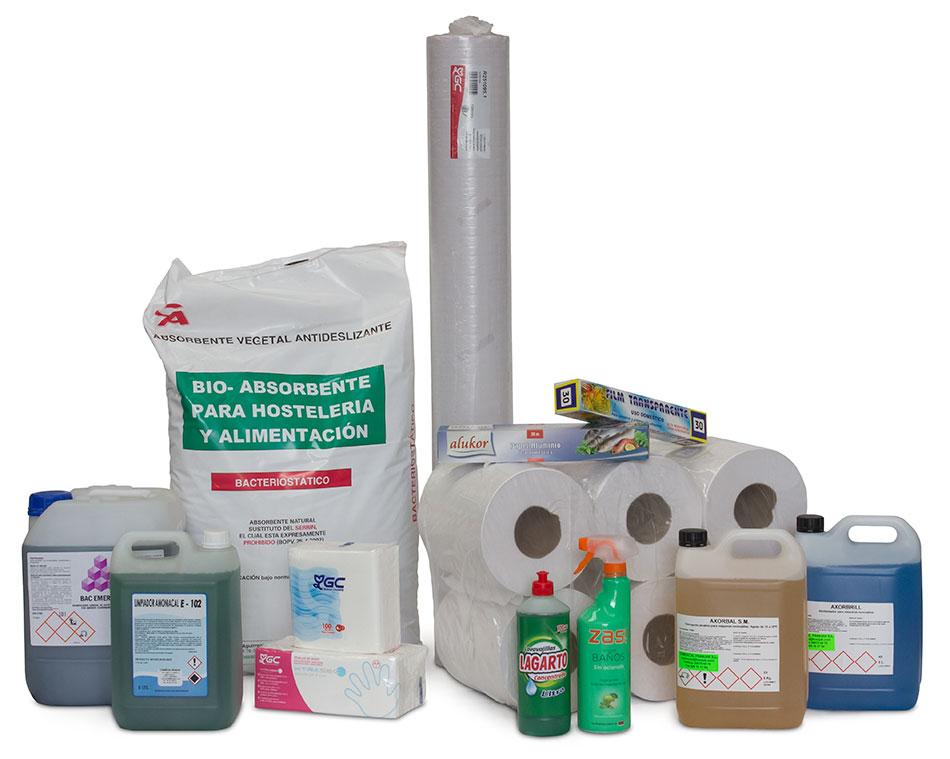 Productos para el mantenimiento de hostelería